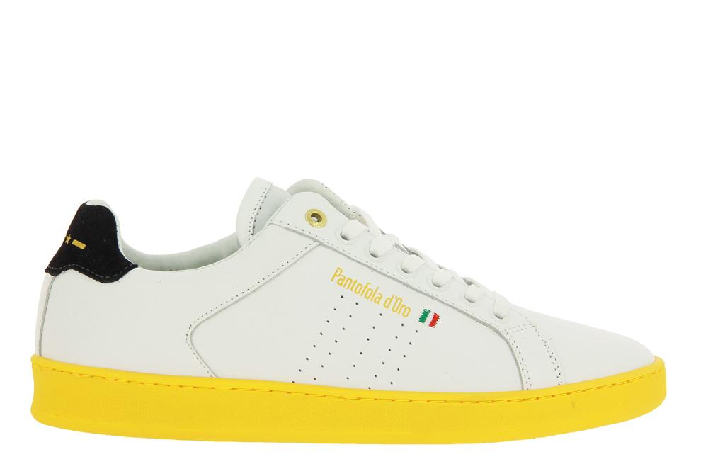 Pantofola d'Oro sneaker ARONA UOMO LOW BRIGHT WHITE NEON YELLOW
