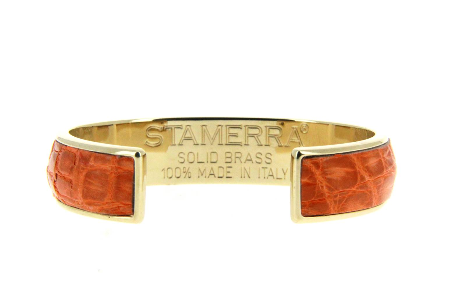 Stamerra bracelet VERO GENUINE CROCO MEDON GOLD ARANCIO