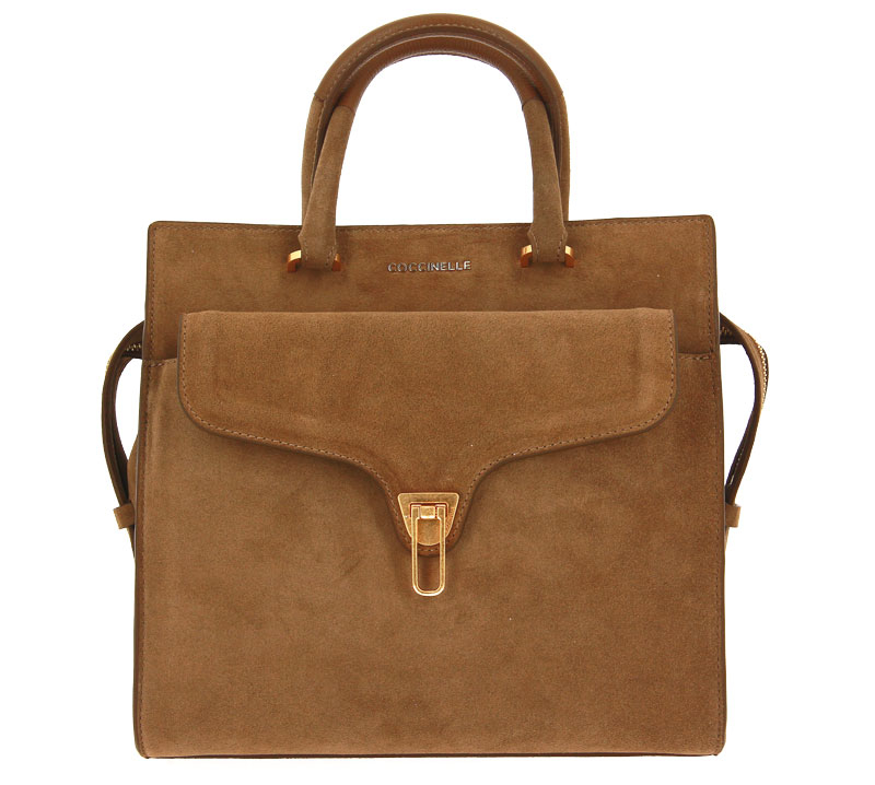 Coccinelle bag BEAT SUEDE TOBACCO