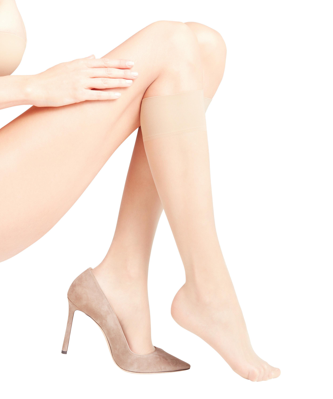 FALKE silk smooth 15 DEN ladies knee socks CRYSTAL