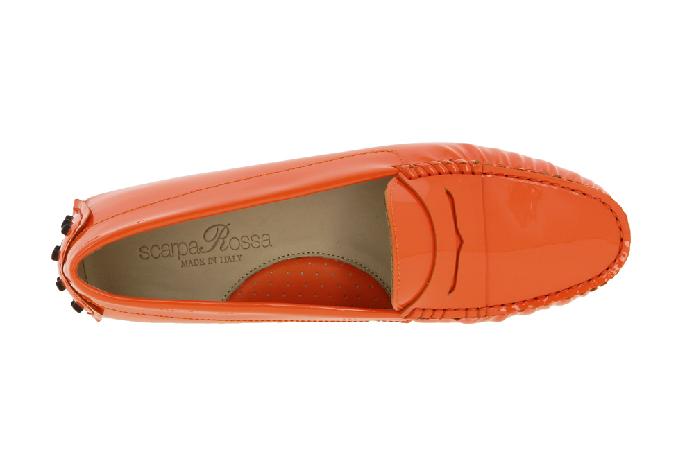 ScarpaRossa Slipper Gomma VERNICE ARANCIO ORANGE