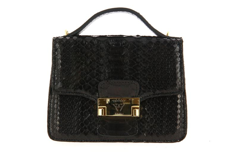 Ghibli shoulder bag PITONE NERO
