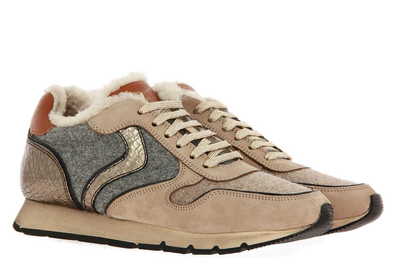 Voile Blanche sneaker lined JULIA NABUK FELTRO CRACK BEIGE