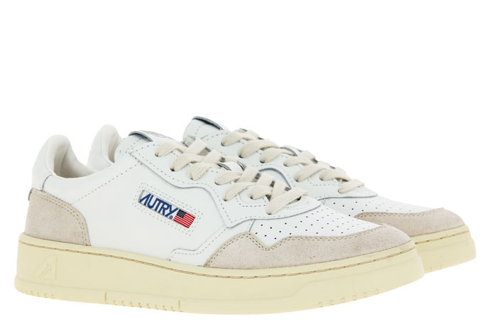 Autry sneaker LOW MAN LEATHER SUEDE WHITE