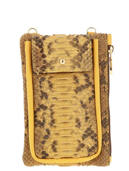 Carol J. shoulder bag PITHON DOLLARO OCRA ANANAS
