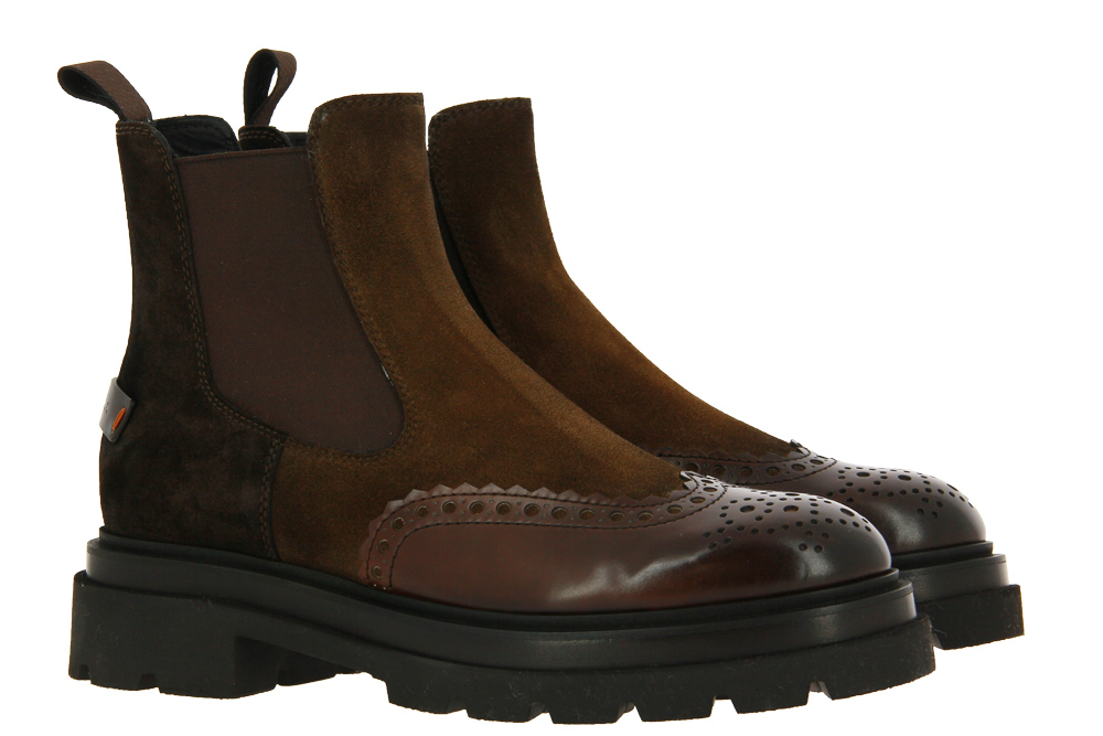 Santoni ankle boots lined NAPPA MORO