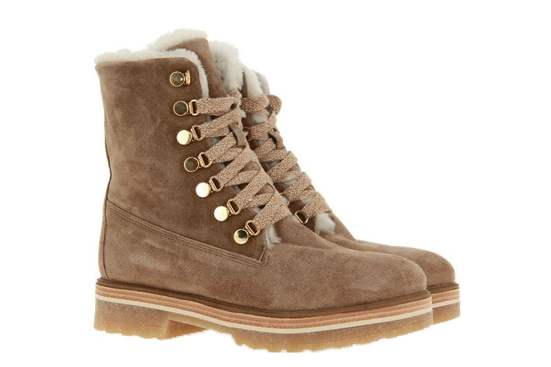 Alpe ankle boots lined CAMOSCIO DESSERT