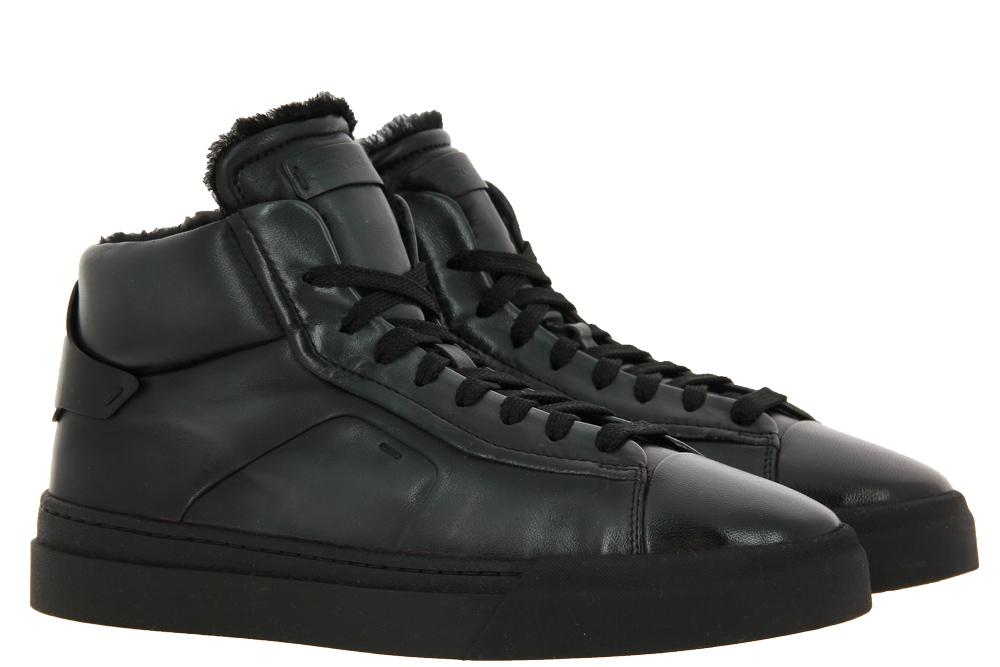 Santoni sneaker lined ALL BLACK