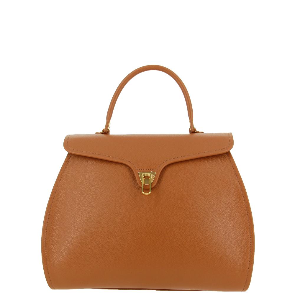 Coccinelle handbag MARVIN MAXI COGNAC
