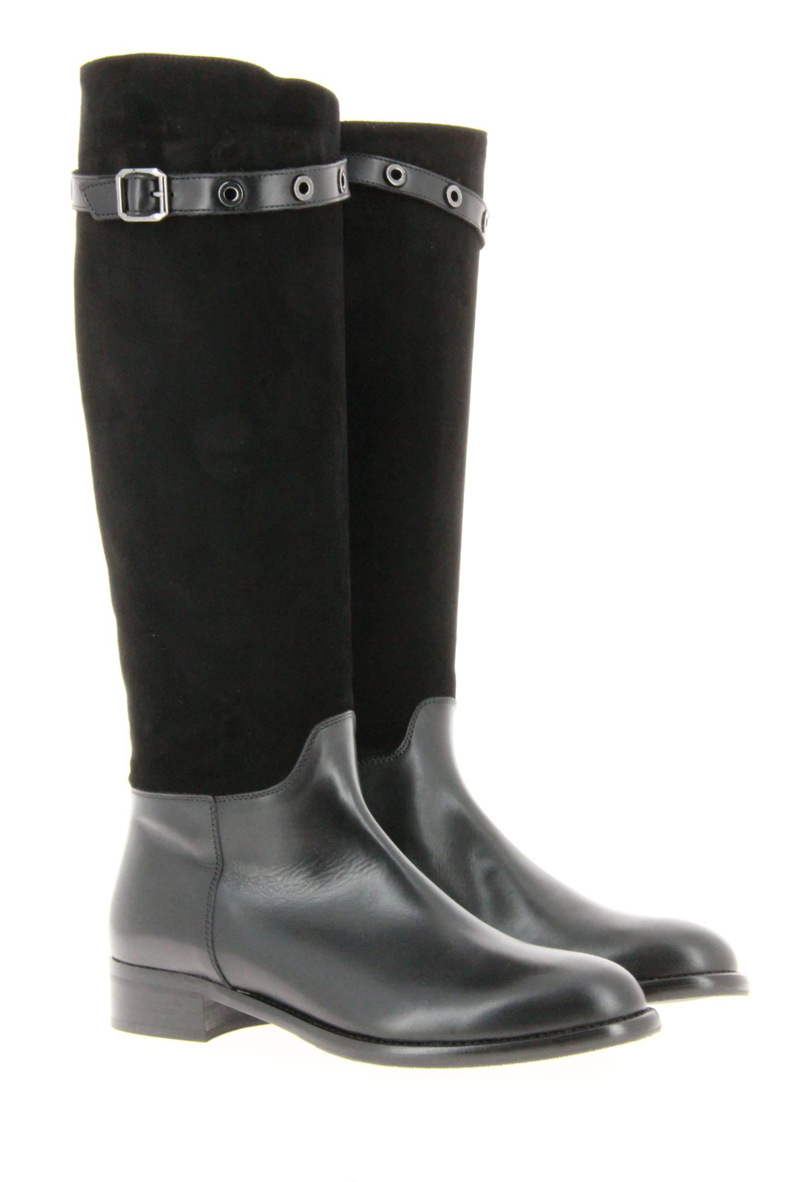 Maretto boots CAMOSCIO NERO